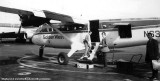 1972 - Richard Silagi boarding a Golden West DHC-6 Twin Otter N6383 at San Francisco International Airport