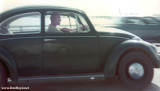 Early 1970's - John M. Boyd and his Volkswagen Beetle on the MacArthur Causeway