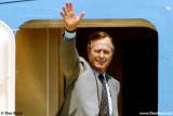 Early 1990's - closeup of President George H. W. Bush