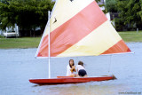 1979 - Dana Cook and Kim McNatt sailing on Lake Suzie