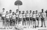1961 - the St. Mary's basketball team with Coach Charles Fradley on the right (names below)