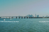 2009 - the Julia Tuttle Causeway with downtown Miami in the background (#1616)