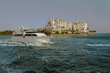 2009 - the yacht Deslize from Road Harbour, British Virgin Islands, passing in front of Fisher Island (#1638)