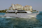 2009 - the yacht Deslize from Road Harbour, British Virgin Islands, passing in front of Fisher Island (#1639)