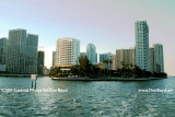 2009 - Brickell Key from the south, formerly Claughton Island, Miami (#1649)