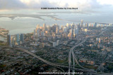 2009 - aerial sunrise view of downtown Miami