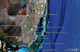 2009 - a Google Earth image showing all the former Army missile sites in Dade County starting in 1962