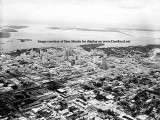1950's - aerial view looking southeast over downtown Miami