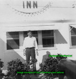 1940's or 50's - Jack Larry Daughtrey in front of the Bottle Cap Inn on NW 119th Street, Miami