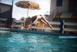 1957 or 1958 - Sam Pietrofitta's brother diving in the Ken-Lin Motel's swimming pool