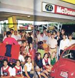 1969 - Hialeah teens and Thoroughbred cheerleaders at McDonald's on Palm Springs Mile, Hialeah (info below photo)