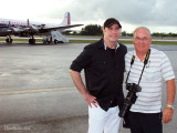 2010 - huge aviation buff (and great actor) John Travolta and Don Boyd with the HFF's restored Eastern DC-7B N836D