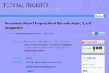 The Federal Aviation Administration (FAA) publishes it wrong in the Federal Register