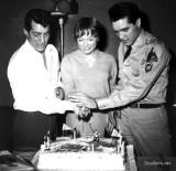 Dean Martin, Shirley MacLaine and Elvis Presley