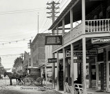 1908 - looking east on 12th Street  (now Flagler Street) at Avenue D (now Miami Avenue) in downtown Miami - right half of image