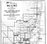 1925 - map of old Miami and surrounding environs in 1925, north of Flagler Street, and projected growth by 1935