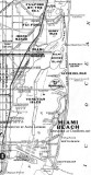 1925 - map of old Miami and surrounding environs, east of Miami Avenue, in 1925 and projected growth by 1935