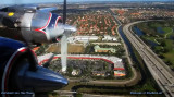 2011 - aerial photo from Historical Flight Foundation's restored Eastern Air Lines DC-7B N836D over Miami Lakes
