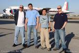 2011 - Dave Hartman, Marc Hookerman, Ben Wang and Joe Pries before flight in restored Eastern Air Lines DC-7B N836D