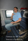 2011 - Marc Hookerman onboard the Historical Flight Foundation's restored Eastern Air Lines DC-7B N836D