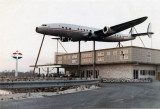 1970's - Lockheed Constellation L-1049G mounted on top of the Oasis American gas station and gift shop on Tamiami Trail