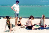 1976 - Danny, Jerry, Denise and Jill Griffis with J. Boyd at Cape Florida State Park