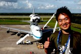 September 2012 - Ben Wang with the NASA Shuttle Carrier Aircraft and Space Shuttle Endeavor at Cape Canaveral