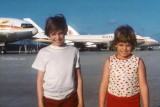 1976 - Dan Griffis and Denise Griffis on the National Airlines Maintenance Base at Miami International Airport