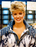 1987 - Mary Hart, co-host of Entertainment Tonight at Miami International Airport