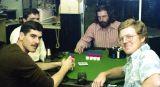 1976 - Sgt. Harry Duncan Wilson, USMC, Eddie Sullivan, Bob Zimmerman and Ray Kyse at poker game