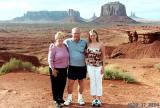 2004 - Karen C., Don and Donna at Monument Valley, UT