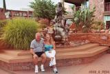 2004 - Don and Donna in downtown Sedona, AZ