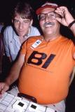 1986 - Mark Busseniers and Eddy Gual checking out slides