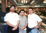 1998 - Bill Hough, Geert Marien and Kev Cook in Newark, New Jersey