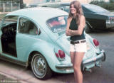 1972 - Brenda Reiter and my Super Beetle in front of her home