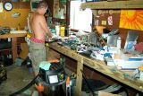 2006 - Nephew David working on his Megatouch machines in his garage
