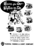 1955 - Florida Power & Light Ad - where is Ready Kilowatt these days?