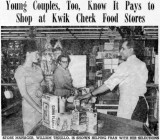 1962 - Fran Wodzinski, the bride-to-be, in misspelled Kwik Chek ad in The Miami News Bridal Section