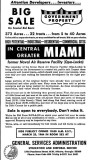 1964 - Portions of former NAS Miami at Opa-locka advertised for auction by the GSA