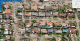 Early 2007 - aerial east to west view of West 9th Lane area of Palm Springs, Hialeah
