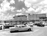 1960's - parking lot, terminal and airport hotel at Miami International Airport