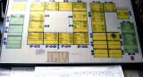 1978 - one of the first Gate Control plotting boards used by the airport to assign gates