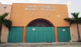 The front of Palm Springs Middle School as viewed from W. 56 Street - photo #1873