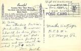 1944 - back side of  Venetian Way postcard postmarked January 7, 1944