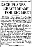 1931 - article about USN Rear Admiral William A. Moffett in town to accept the new airport for the government