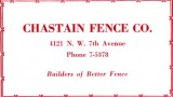 1952 - Chastain Fence Co.