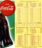 1952 - Coca-Cola, teams rosters for Miami Edison High and Miami High