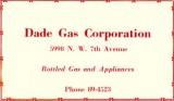 1952 - Dade Gas Corporation