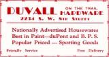 1952 - Duvall Hardware