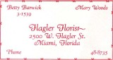 1952 - Flagler Florist